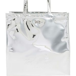 Ted Baker London Silver Mirrored Tote